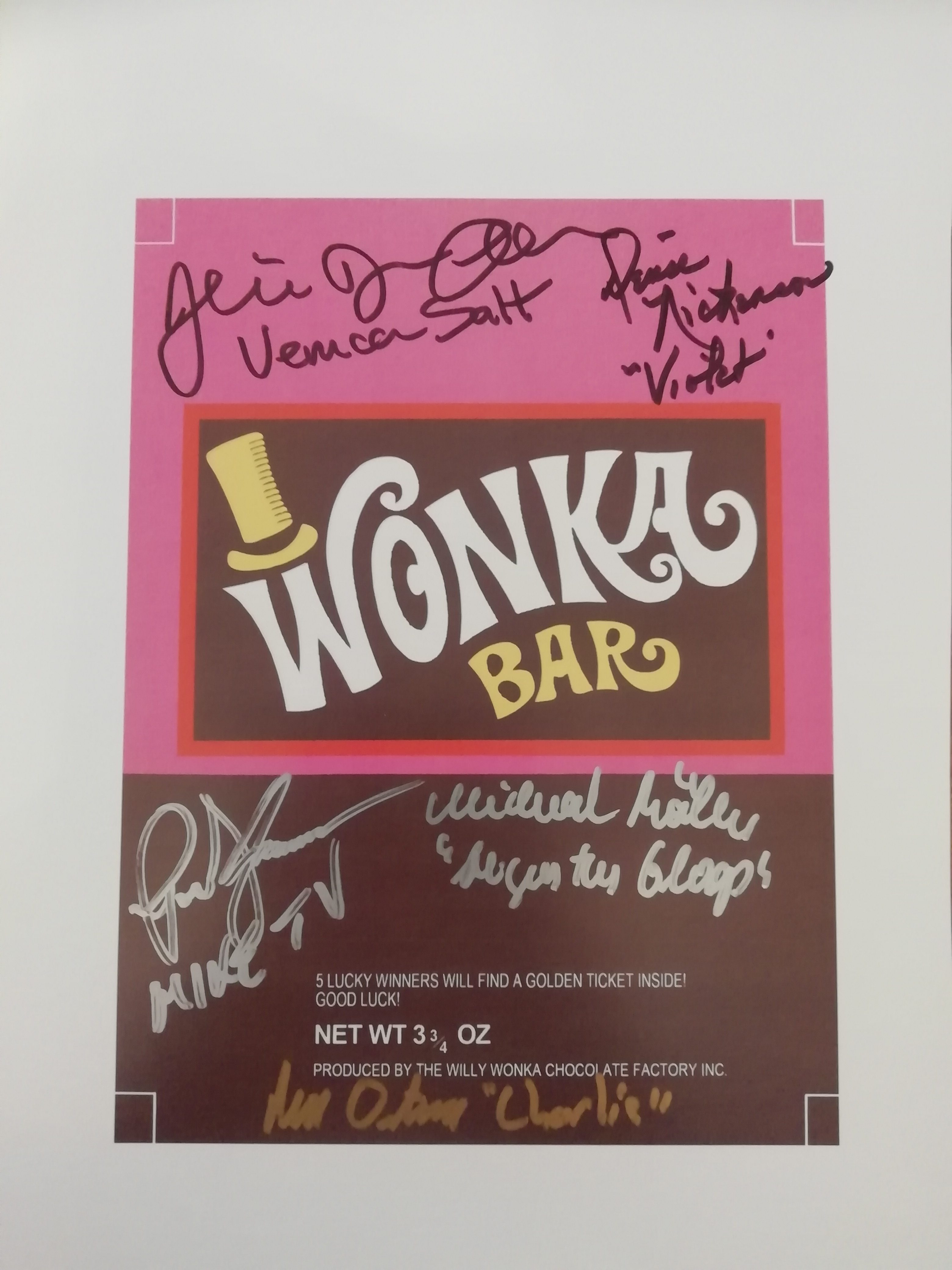GRAPHICS /& MORE Willy Wonka and The Chocolate Factory Wonka Bar Logo Home Business Office Sign